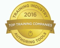 Hurix Digital wins the Top Training Companies 2016 in the category of Authoring Tools for Kitaboo by the Training Industry