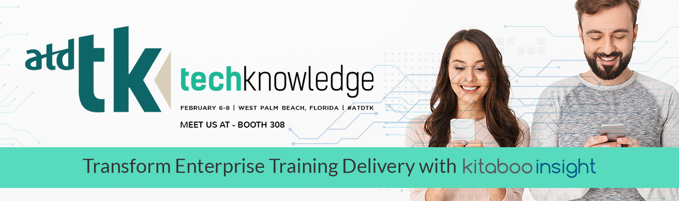 Meet Hurix Digital at ATD TechKnowledge 2019 Booth 308, to discover an exciting mobile-based training delivery & enterprise learning solution Kitaboo Insight
